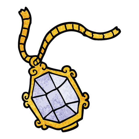dessin animé doodle bijoux coûteux Vecteurs