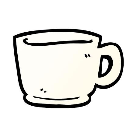 cartoon doodle tea cup Reklamní fotografie - 110853207