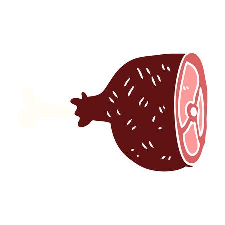 joint de viande de dessin animé doodle