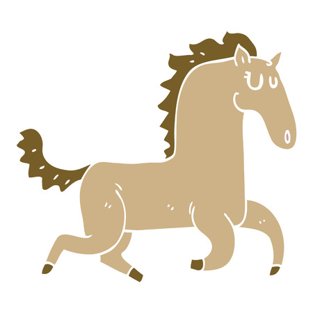 cartoon doodle magnificent stallion  イラスト・ベクター素材