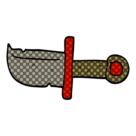 cartoon doodle dagger