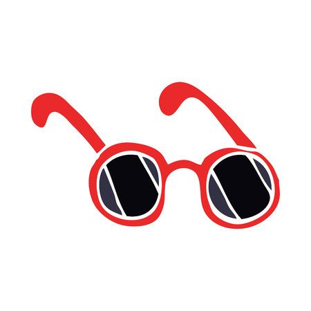 cartoon doodle sun glasses