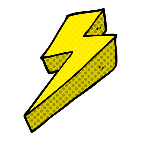 cartoon doodle thunder bolts