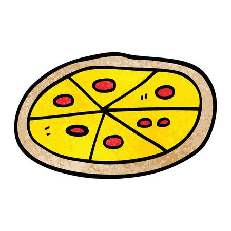 cartoon doodle pizza