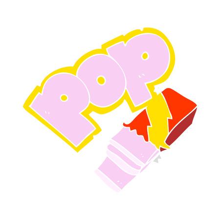 flat color illustration of bubble gum Illustration