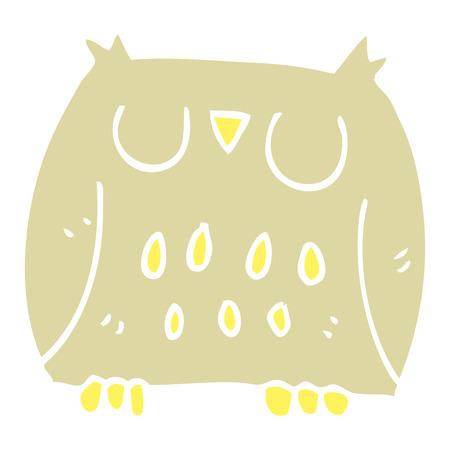 cartoon doodle happy owl