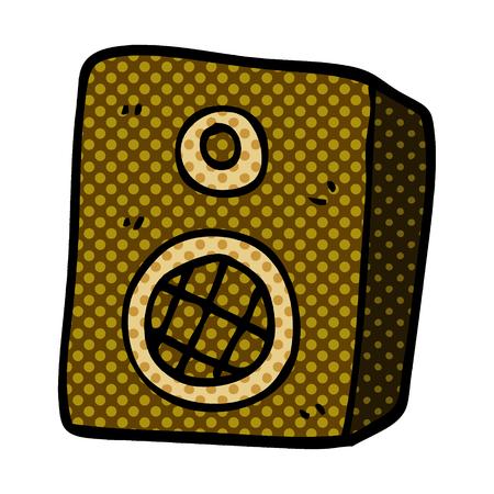 cartoon doodle music speaker