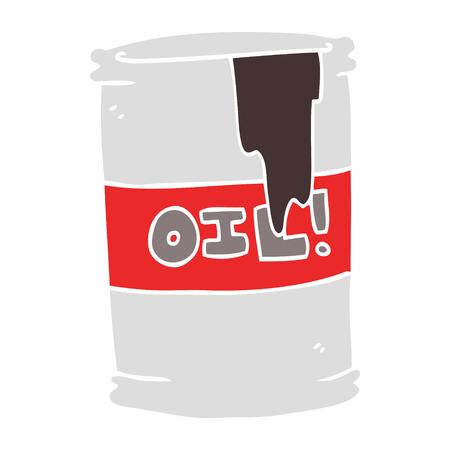 flat color illustration of oil drum