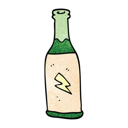 dibujos animados doodle bebida barata Ilustración de vector