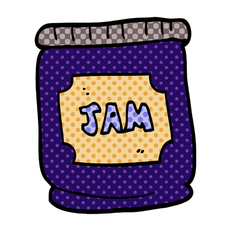 cartoon doodle jam pot Stock Illustratie