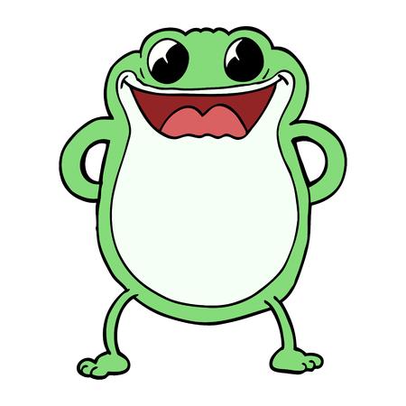 cartoon doodle frog 일러스트