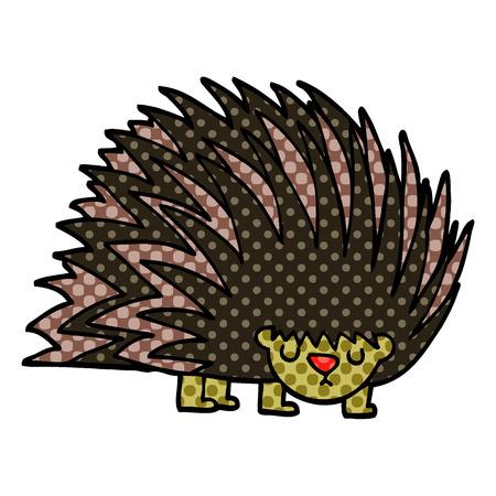 cartoon doodle spiky hedgehog Archivio Fotografico - 110800440