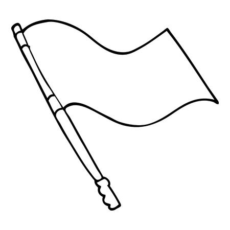 line drawing cartoon flag