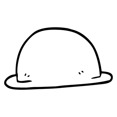 line drawing cartoon hat