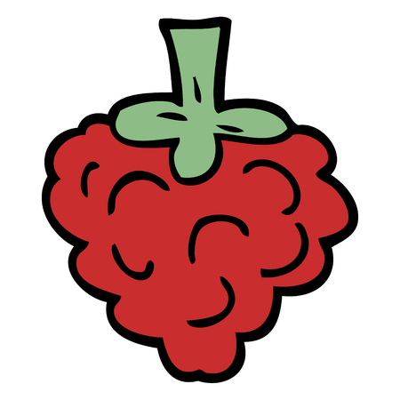 cartoon doodle raspberry