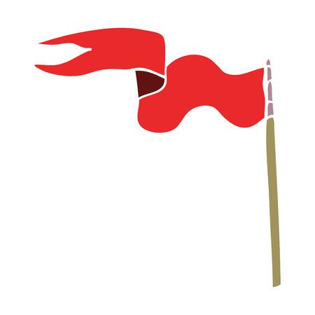 cartoon doodle flag Illustration