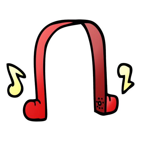 cartoon doodle modern headphones