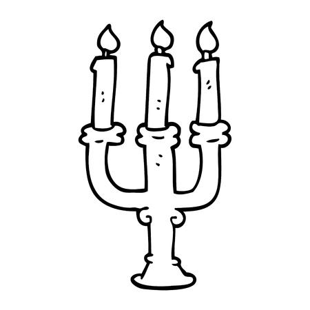 bougies effrayantes de dessin au trait Vecteurs