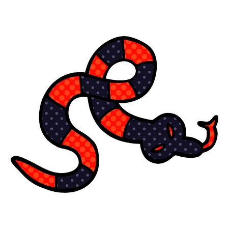 cartoon doodle poisonous snake