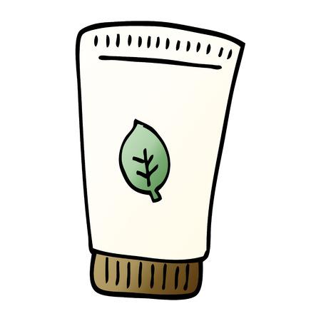 cartoon doodle skin lotion 向量圖像