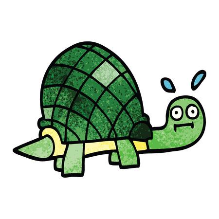 cartoon doodle funny tortoise Standard-Bild - 110853836