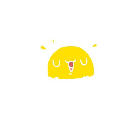 flat color style cartoon fried egg