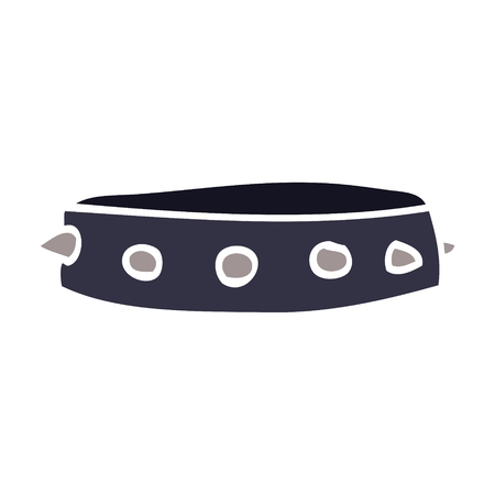 cartoon doodle spiked dog collar