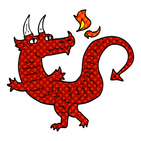 cartoon doodle dragon Vector Illustration