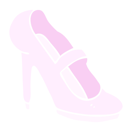 flat color illustration of high heeled shoe
