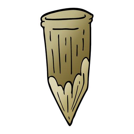 Cartoon-Doodle-Holzpfahl