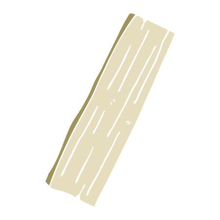 cartoon doodle plank of wood