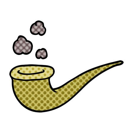 cartoon doodle smoking pipe Stok Fotoğraf - 110854029