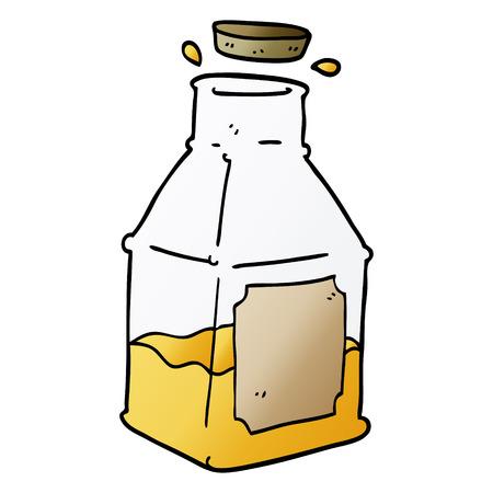 cartoon doodle drink in decanter Vectores