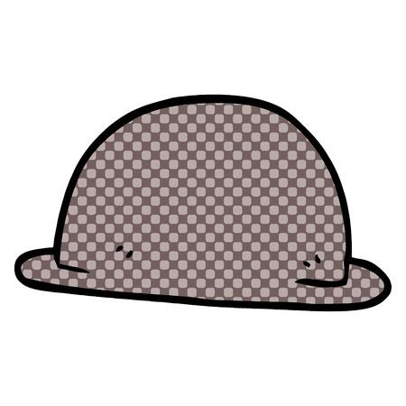 cartoon doodle hat Illustration