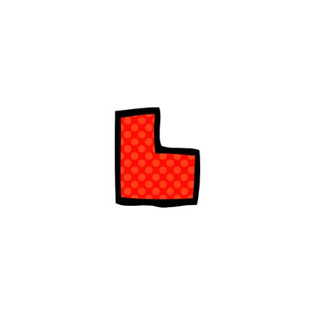 cartoon doodle letter l