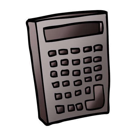 cartoon doodle of a calculator Illustration