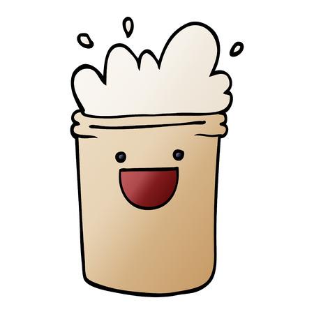 cartoon doodle happy drinks  イラスト・ベクター素材