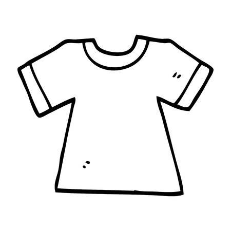 line drawing cartoon tee shirt