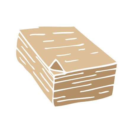 cartoon doodle pile of paper