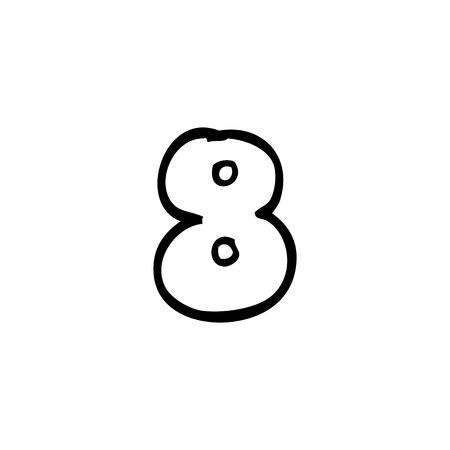 dessin au trait numéro 8
