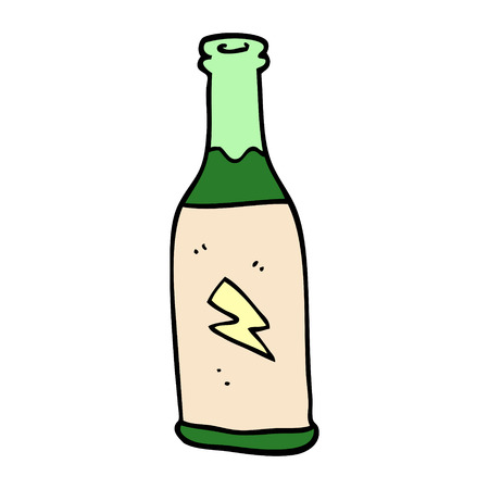 cartoon doodle cheap drink Illustration