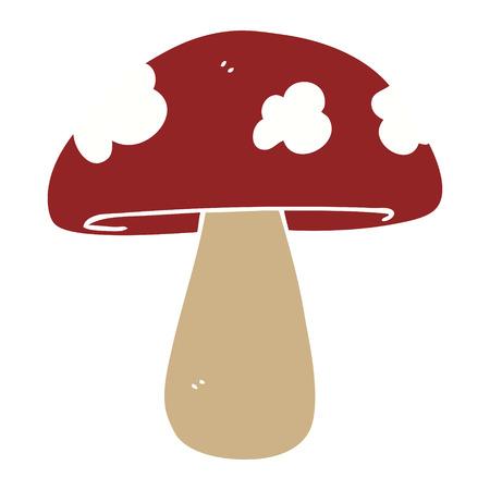 flat color style cartoon mushroom Illustration