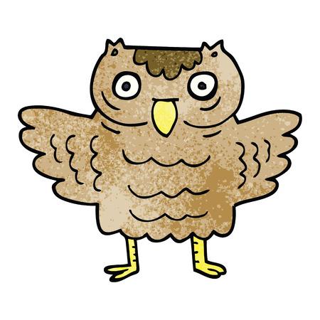cartoon doodle funny owl Ilustrace