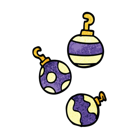 cartoon doodle xmas baubles