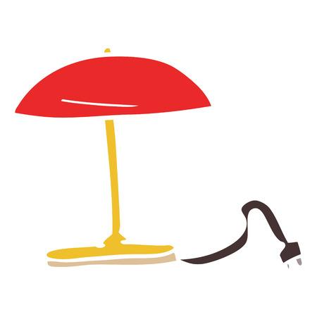 cartoon doodle desk lamp Illustration