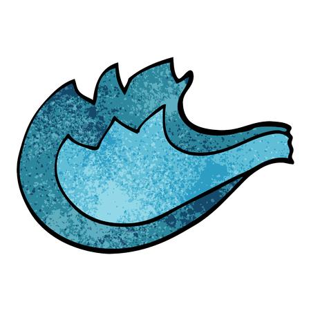 cartoon doodle blue gas flame