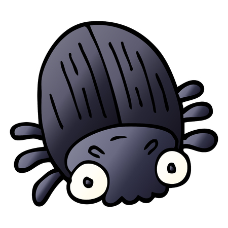 cartoon doodle huge beetle 스톡 콘텐츠 - 110854310