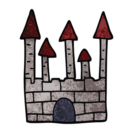 cartoon doodle traditional castle