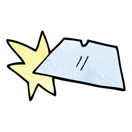 cartoon doodle shiny razorblades