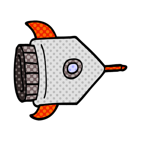cartoon doodle spaceship Standard-Bild - 110854349
